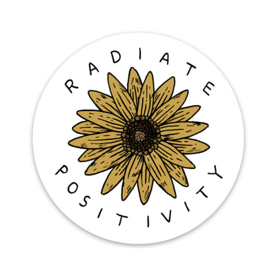 Radiate Positivity Sunflower Sticker
