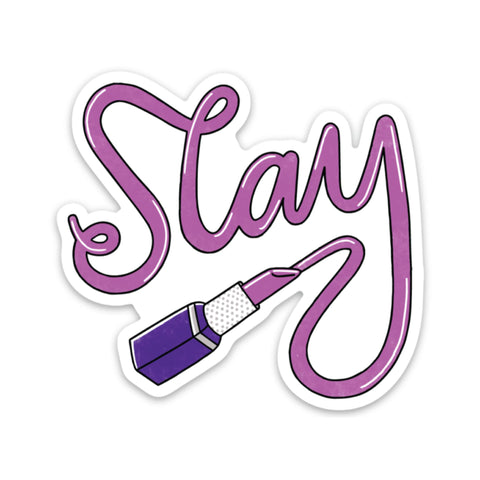 Slay Sticker - Lipstick
