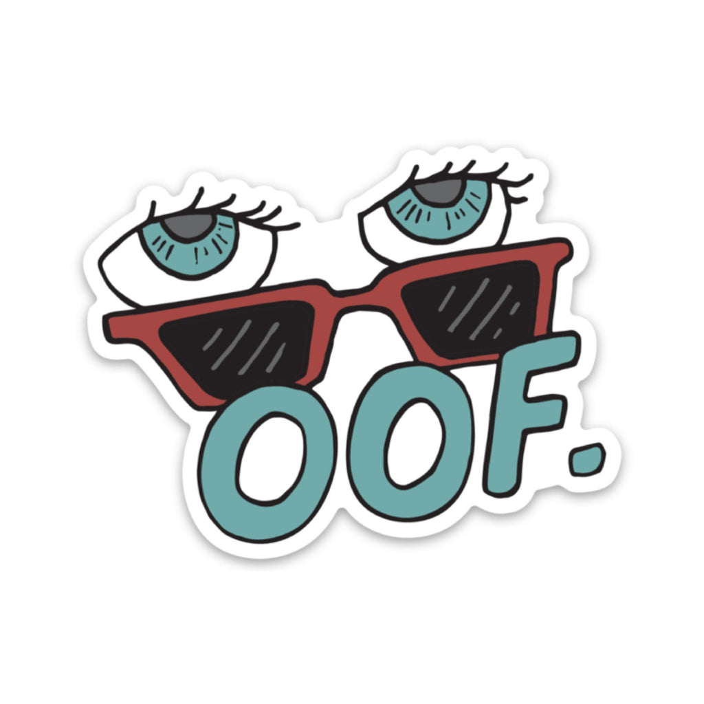 oof - Blue Sunglasses Sticker