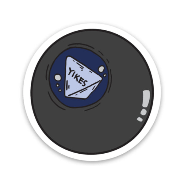 Yikes Sticker - 8 Ball