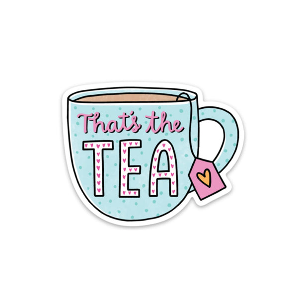 That's The Tea Sticker - Blue