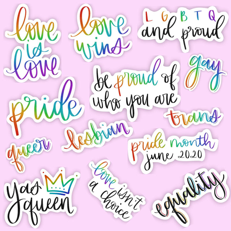 LGBTQ Pride Sticker Pack (Calligraphy)