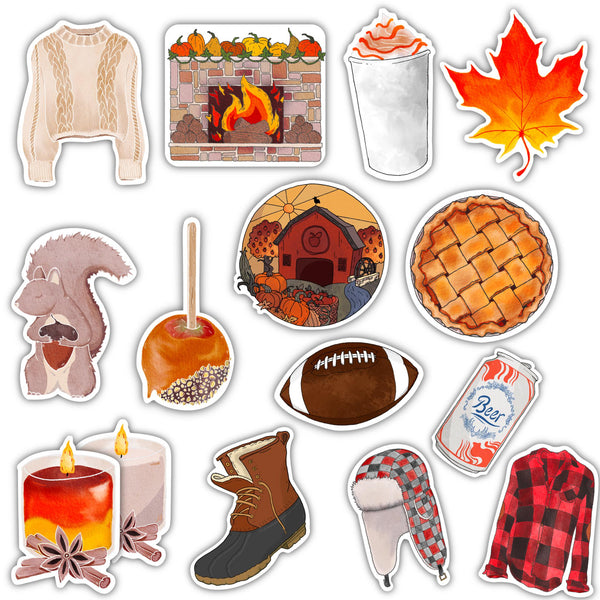 Fall Sticker 15 Pack