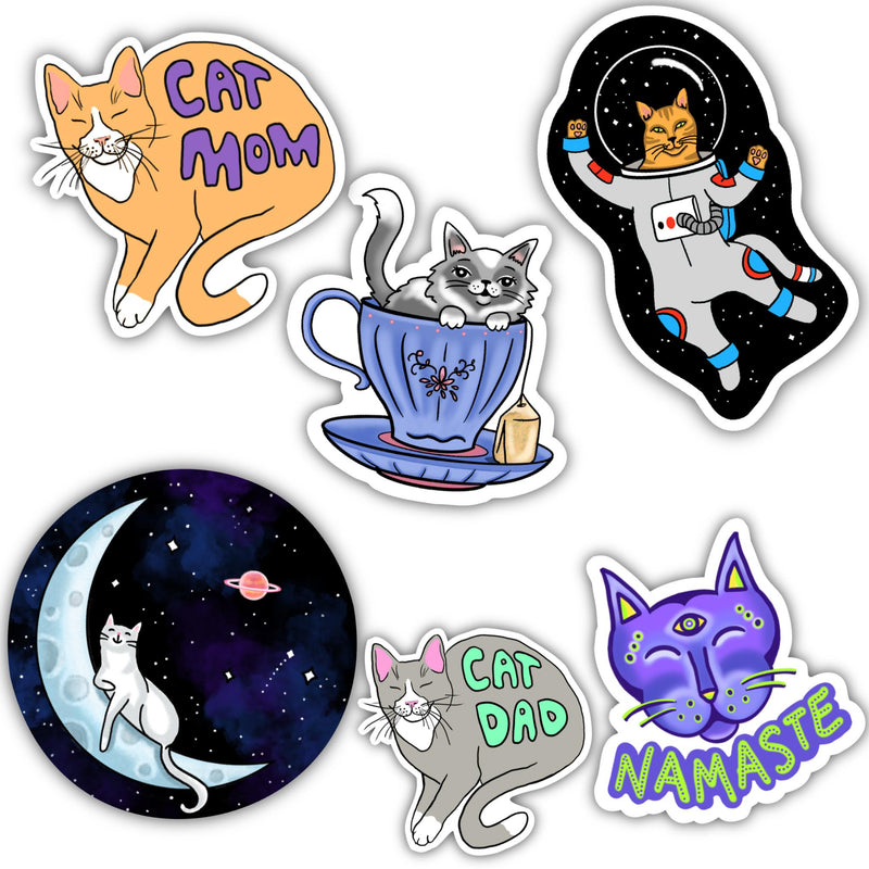 Cat Sticker 6 Pack