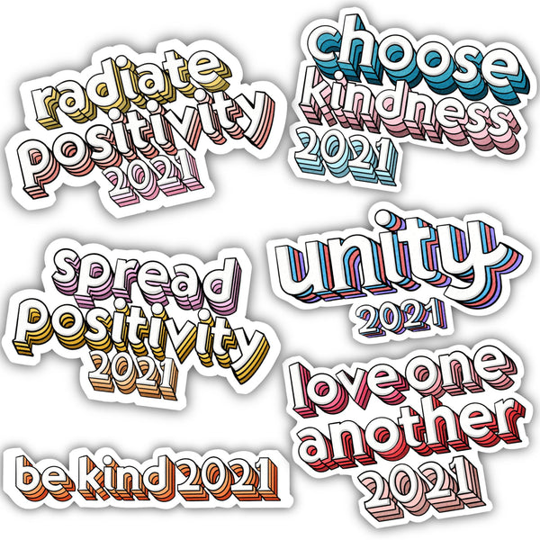 Unity 2021 Sticker 6 Pack - Lettering