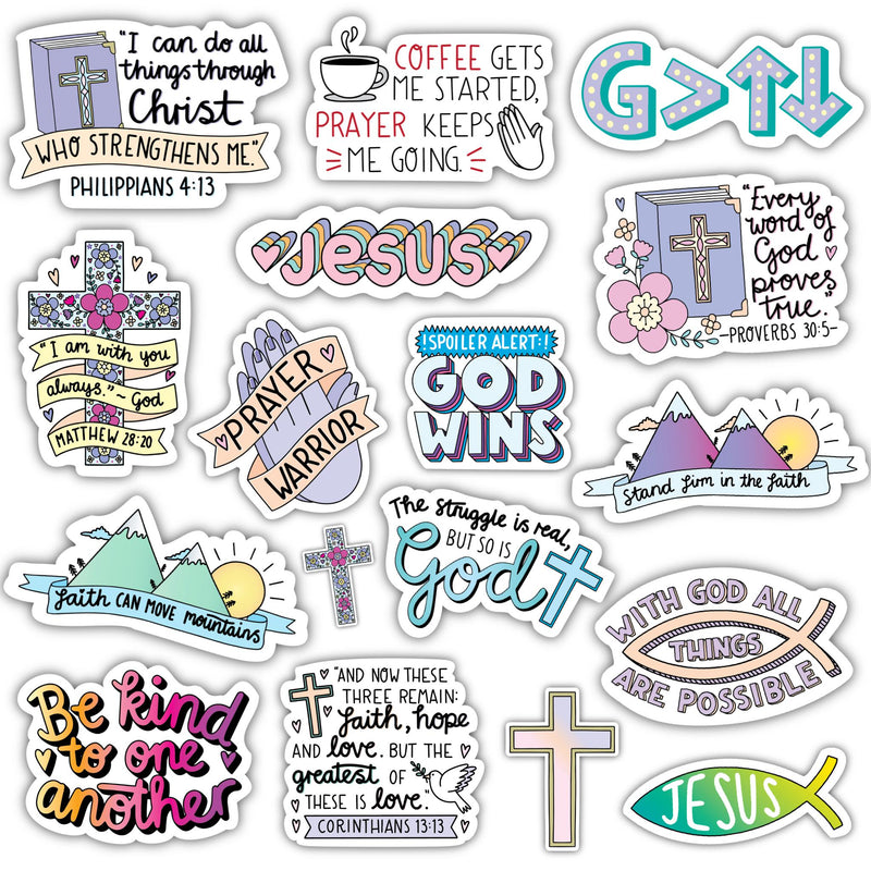 Faith Sticker 17 Pack