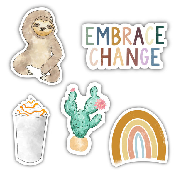 Embrace Change Watercolor 5 Pack