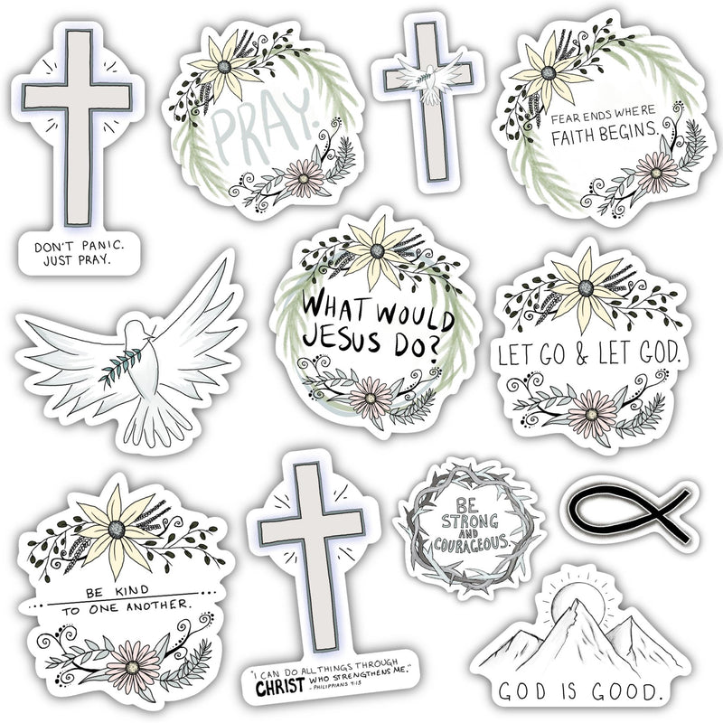 Faith Sticker 12 Pack