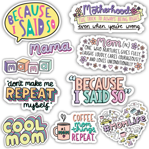 Mom Sticker 10 Pack
