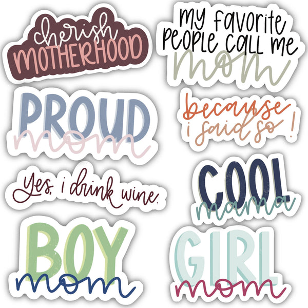 Mom Sticker 8 Pack