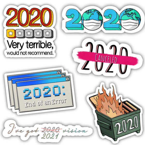 2020 Meme Sticker 6 Pack