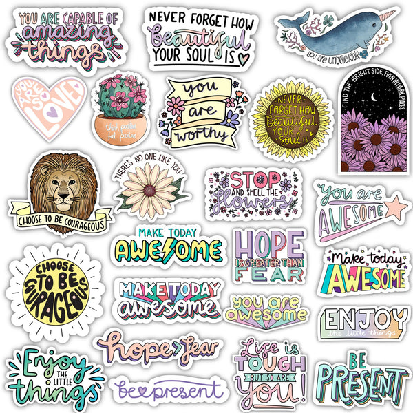 Positivity Sticker 24 Pack