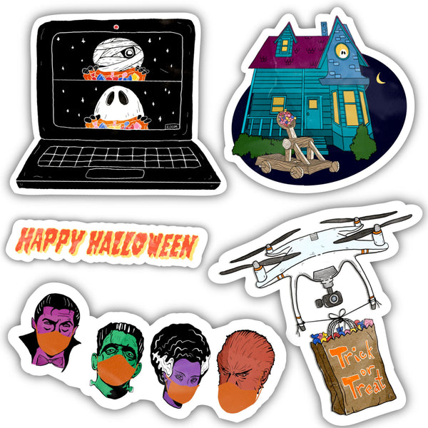 Pandemic Halloween Sticker 5 Pack