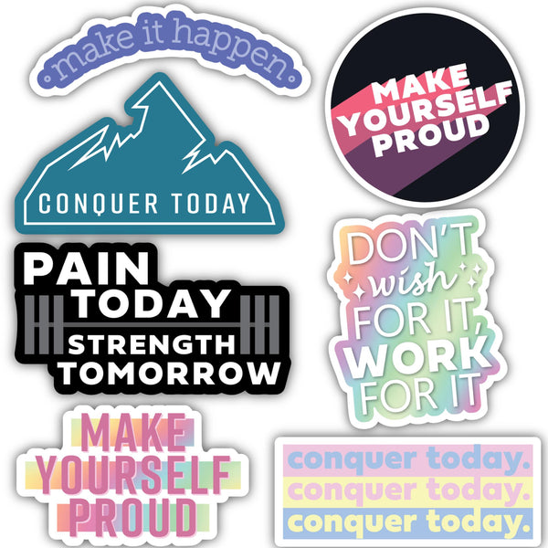 Gym/Motivation Sticker 7 Pack
