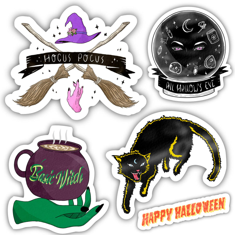 Witch Sticker 5 Pack