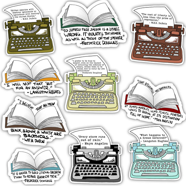 Black History Month Authors Sticker 10 Pack