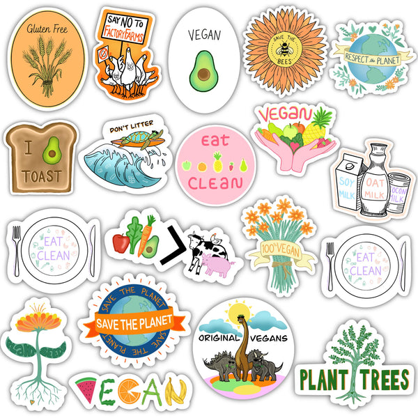Vegan & Wellness Sticker 19 Pack