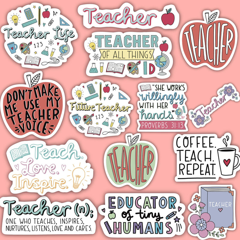 Teacher Sticker 14 Pack Classic