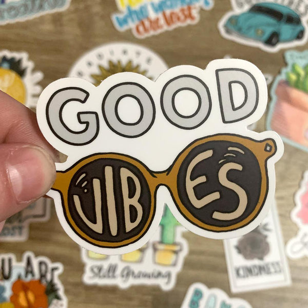 Good Vibes Sunglasses Sticker
