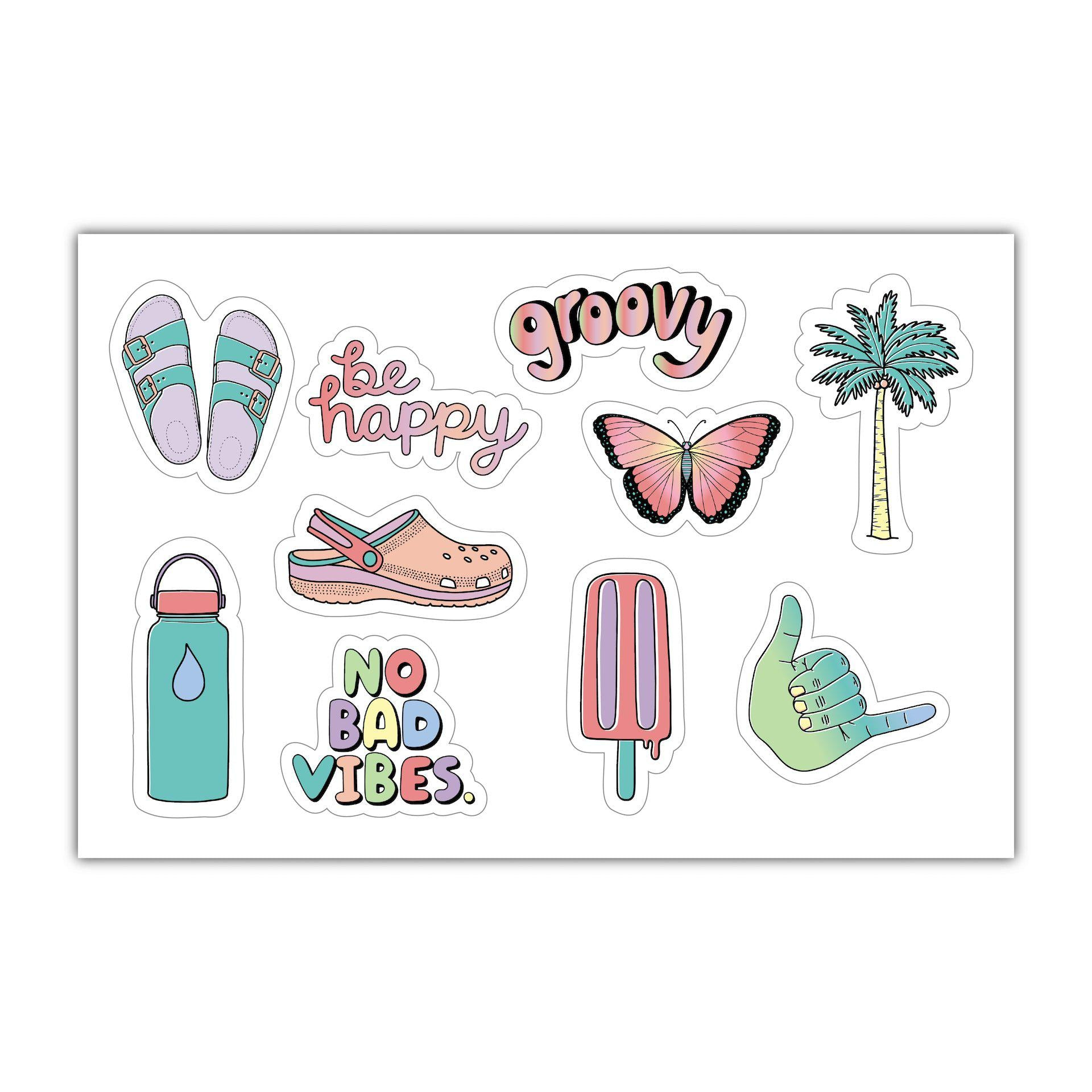Water Bottle Cute Aesthetic Stickers Laptop Vsco Stickers Pack 103 Pcs Decals for Water Bottle Laptops Ipad Cars Luggages