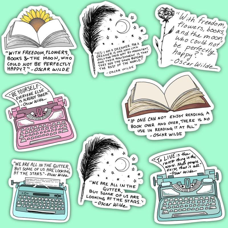 Oscar Wilde Sticker 8 Pack