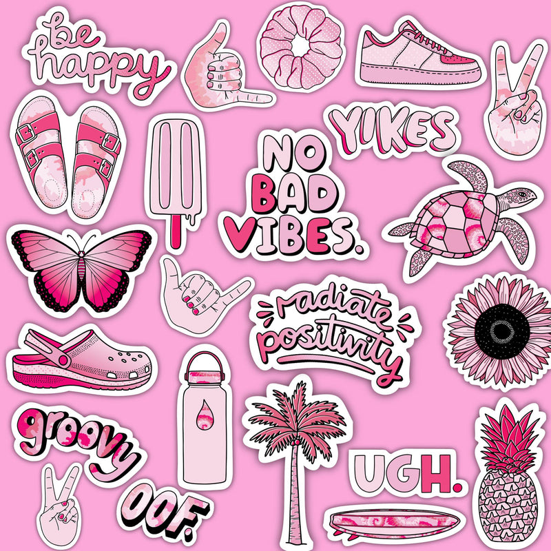"Pink Aesthetic Sticker 23 Pack LARGE 3"" x 3"""