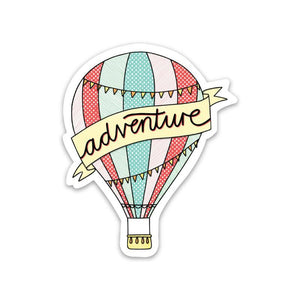 Adventure Hot Air Balloon Sticker