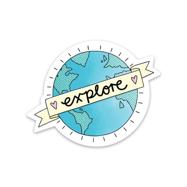 Explore World Sticker