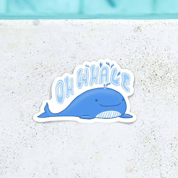Oh Whale Blue Sticker 1