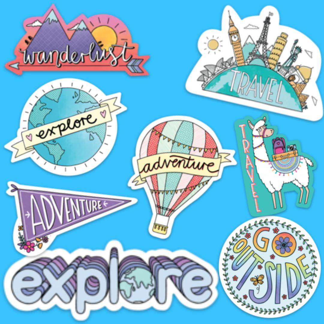 Travel Sticker 8 Pack