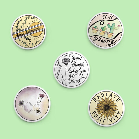 Mental Health Button Pin 5 Pack