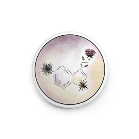Serotonin Color Symbol - Button Pin