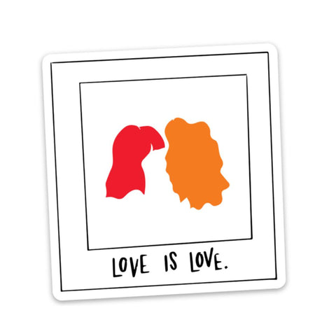 Love is Love Sticker - Polaroid Photo