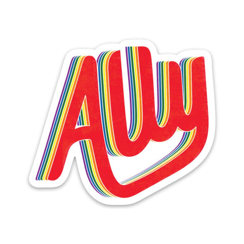 Ally Sticker - lettering