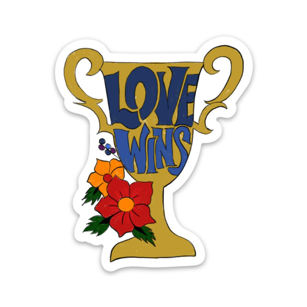 Love Wins Sticker - Trophy