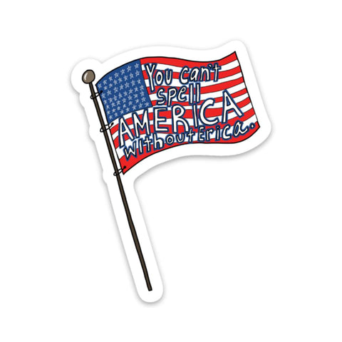 You can't spell America without Erica Sticker - Stranger Things Edtion