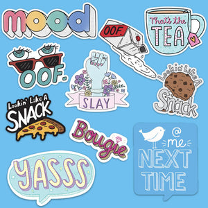 Mood Sticker 10 Pack - Blue