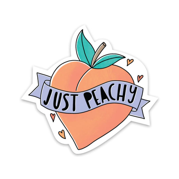 Just Peachy - Mental Health Sticker 1