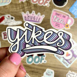 Yikes Sticker - Lettering