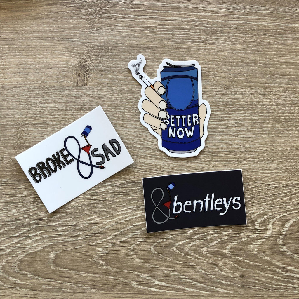 Beerbongs inspired sticker pack