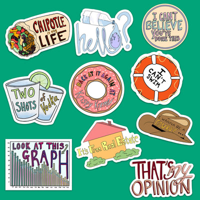 Vine Sticker 10 Pack Fresh