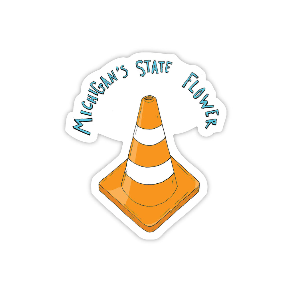 Michigan state flower construction cone