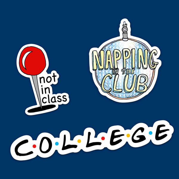 College Student Sticker Pack