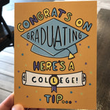 College tip about 8am class - HS Grad Card