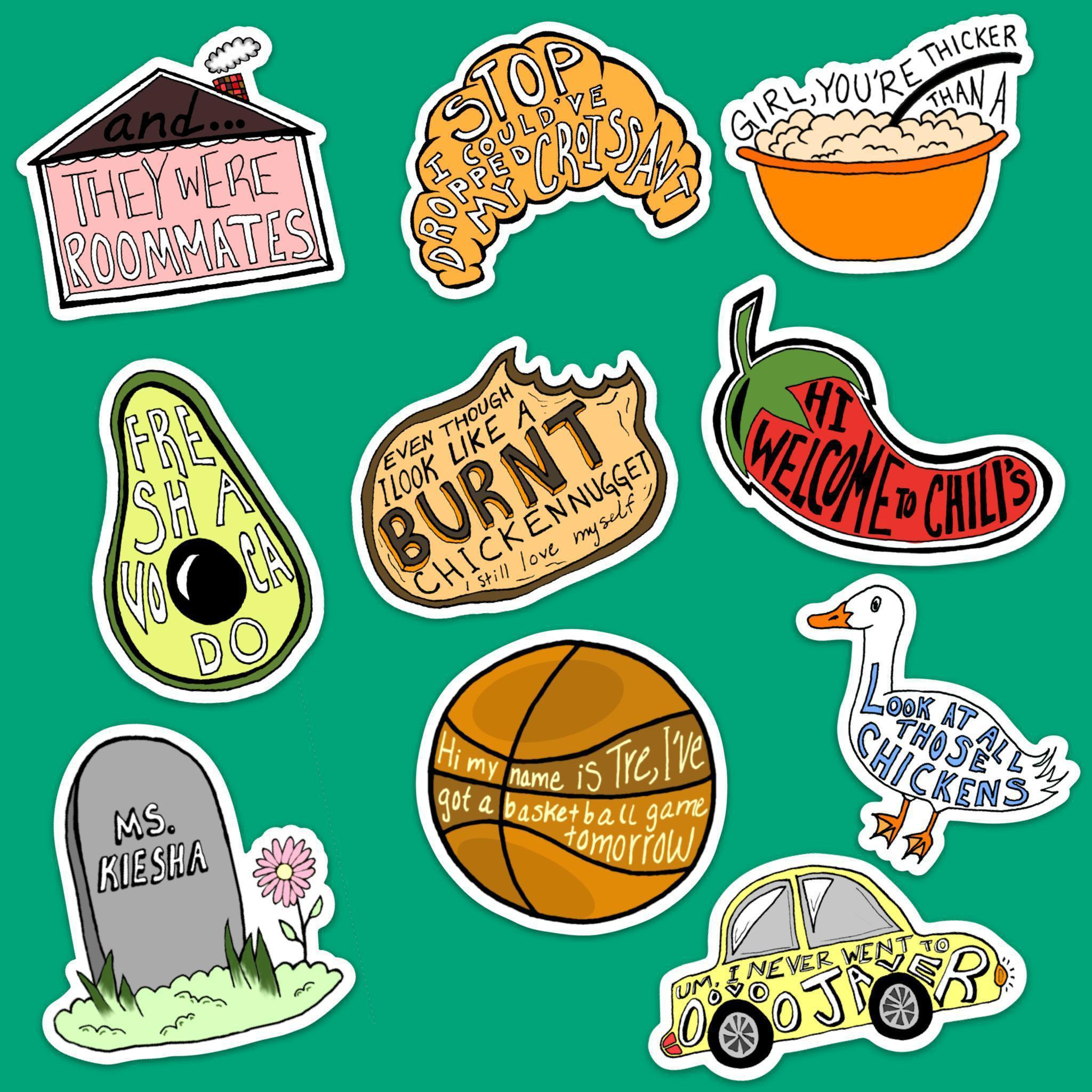 Vine Sticker 10 Pack Classic