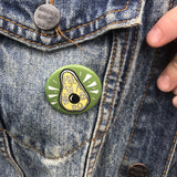 fresh avocado - button pin