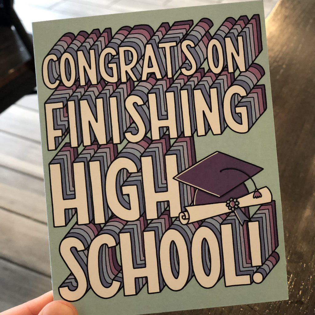 We know you'll miss the dog - HS Grad Card