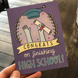 As a college student, you're always going to be tired - HS Grad Card