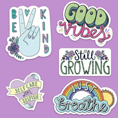 Kind Thoughts Sticker 5 Pack