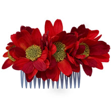 Load image into Gallery viewer, Rouge Floral Comb